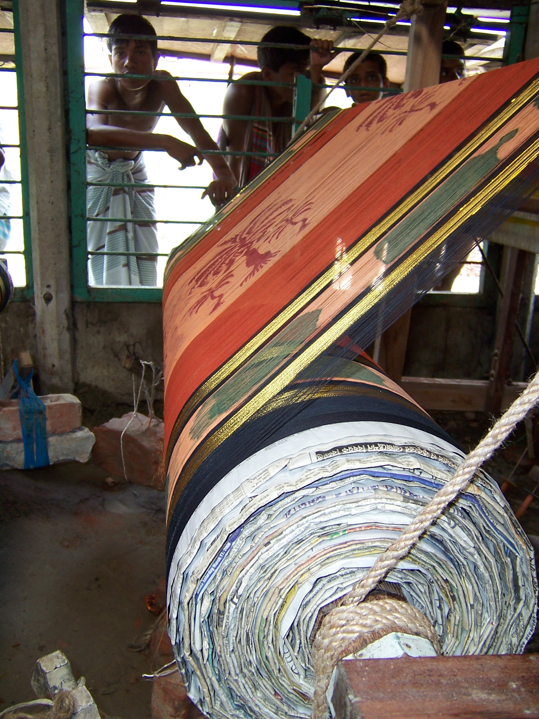 A large roll of silk