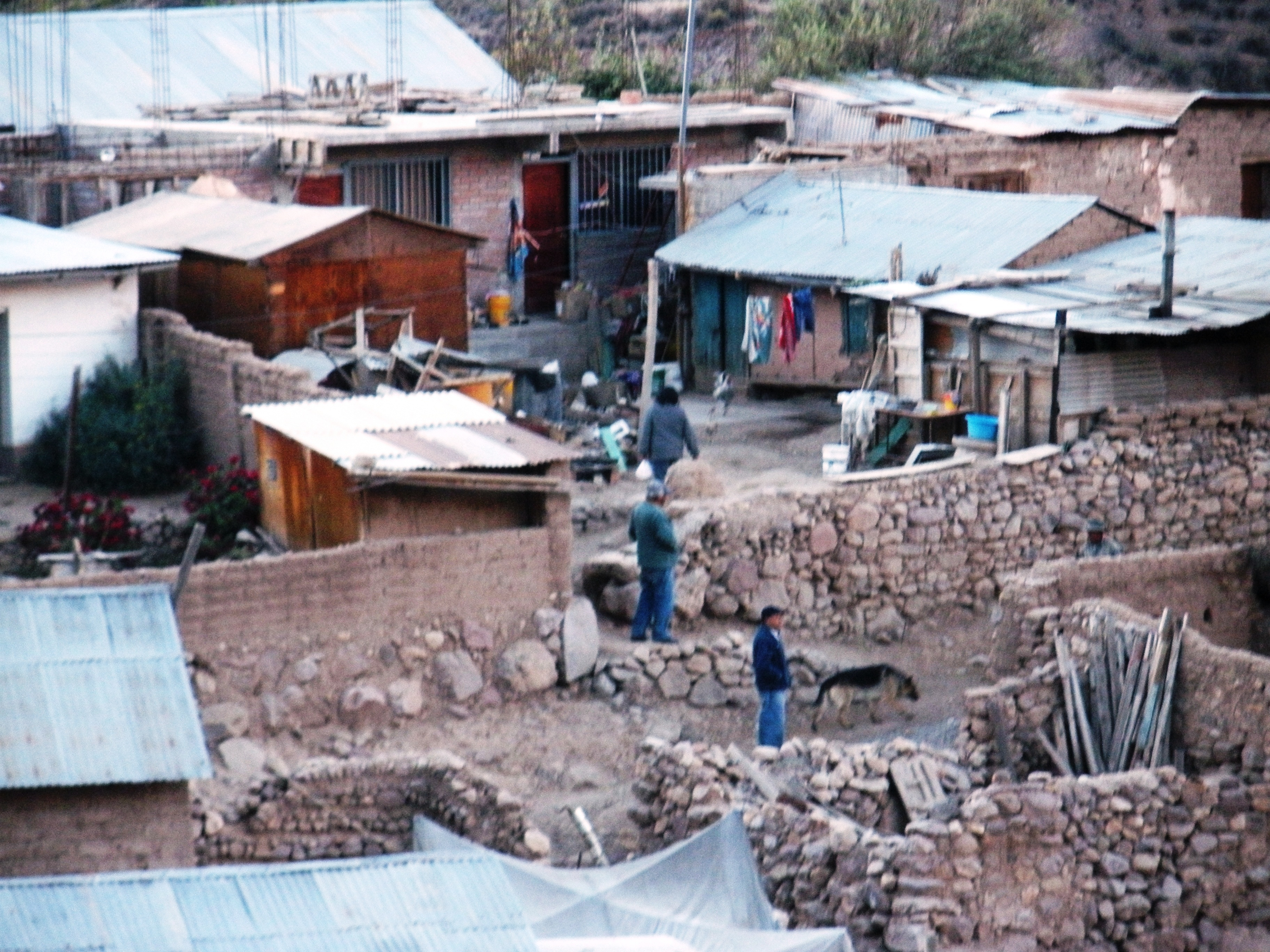 Houses in an indigenous community high in the Andes