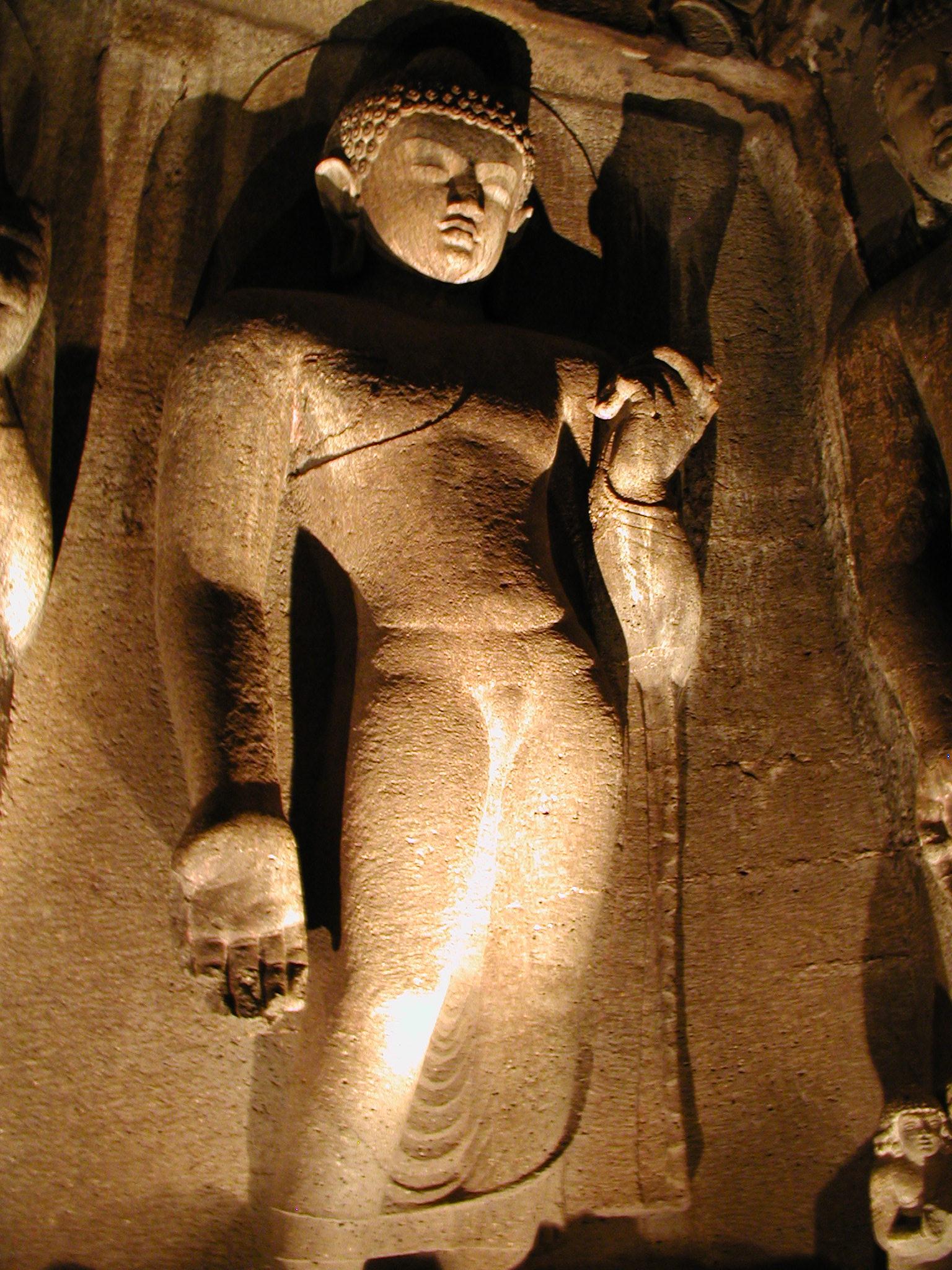 A statue in Ajunta Caves
