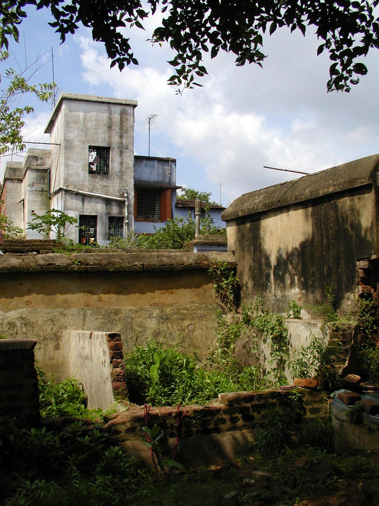 The backyard of a house in Dumka