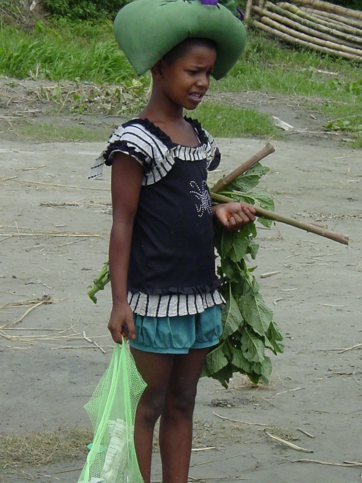 A girl in modern dress