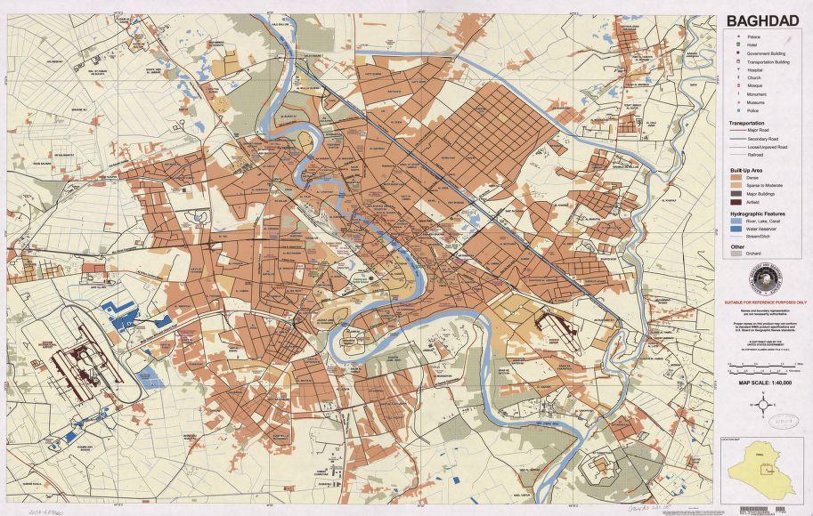 LOC Bagdad Map