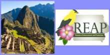 Machu Picchu, Peru and Iowa DNR REAP Logo
