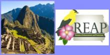 Machu Picchu, Peru and Iowa DNR REAP Logo