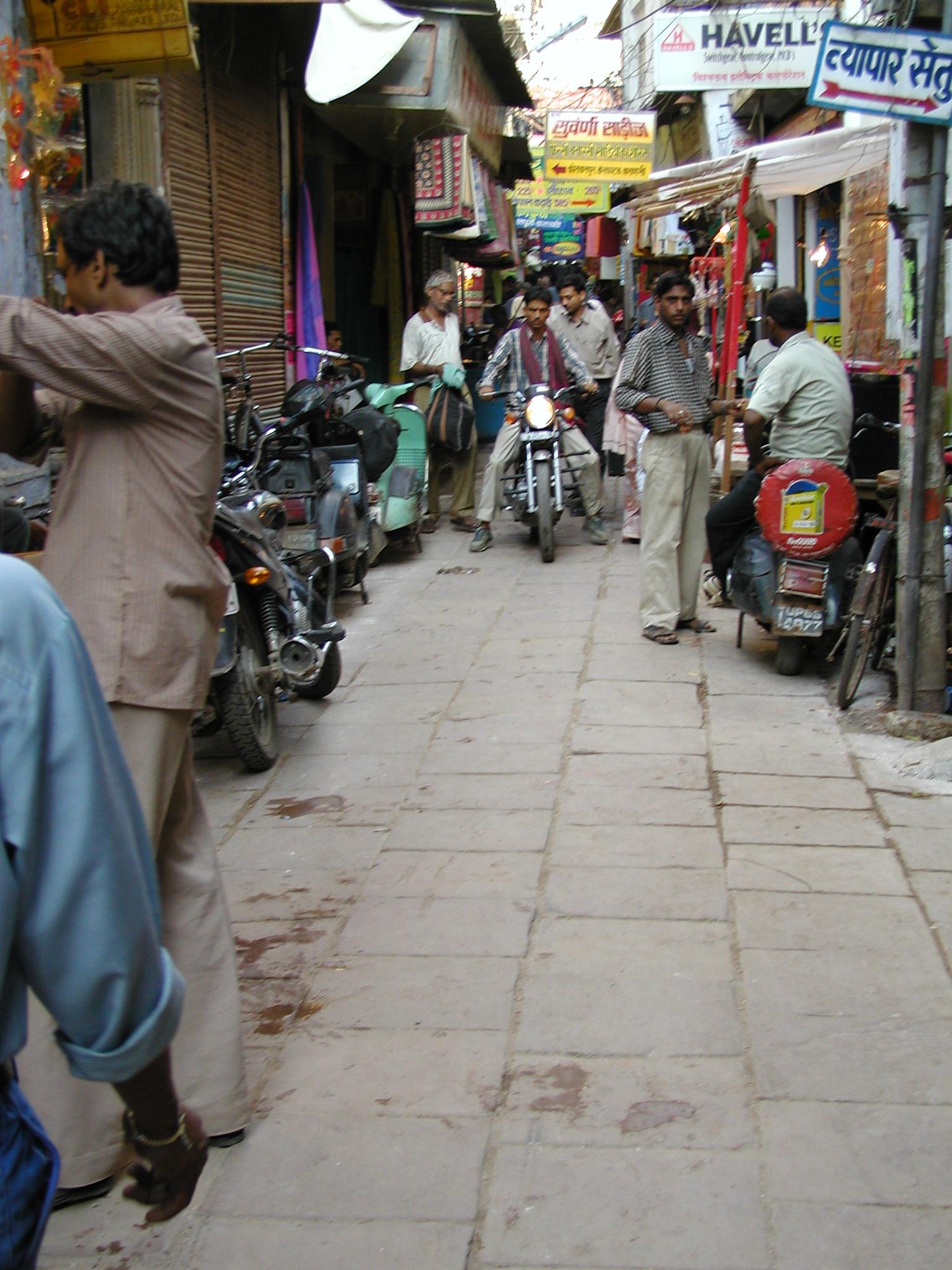 An alley in Varanasi